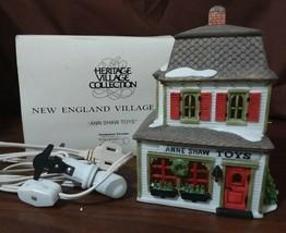 Dept 56 New England Village 1988 ANNE SHAW TOYS Cherry Lane Shops 59390 Retired - $18.00