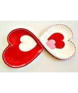 """Fresh Decor White, Pink & Red """"Patchwork"""" Heart Shaped Valentine Dessert... - $10.00"""