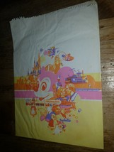 1980's vtg Walt Disney World Mickey Mouse souvenir paper gift bag sack original - $19.79