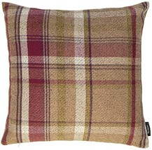 McAlister Heritage Plush Woven Plaid Euro Sham Pillow Cover | Flannel Wool, Stri
