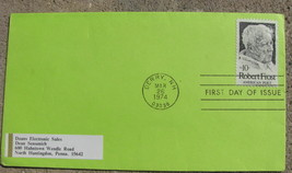 USA FIRST DAY OF ISSUE STAMP COVER Robert Frost american poet 1974 - $9.98