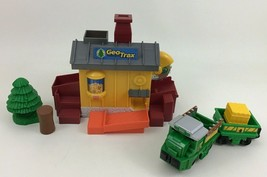 Geotrax Chop and Haul Sawmill Toy Train Cars Accessories Fisher Price 2006 - $21.73