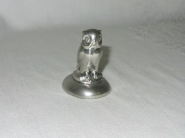 Shirley Williamsburg VA Vintage Pewter Hand Made Owl Figurine Paperweigh... - $24.74