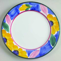 "Per 30 Handpainted Salad Plate 8"" with Flowers by Pier 1 - Made In Italy - $7.99"
