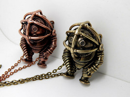 BIOSHOCK BIG DADDY Necklace little sister pendant necklace rapture medal... - $99.90