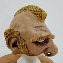 Paper Magic Group Blond Mohawk Dwarf Ugly Man Mask Halloween Costume Cos... - $50.39
