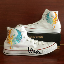 Phoenix Design Converse All Star Hand Painted Canvas Shoes Unisex Sneakers - $149.00
