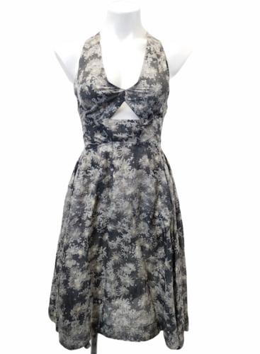 Stella McCartney Women Sleeveless Gray/Purple Summer Floral Print Dress Sz 38
