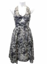 Stella McCartney Women Sleeveless Gray/Purple Summer Floral Print Dress Sz 38 image 1