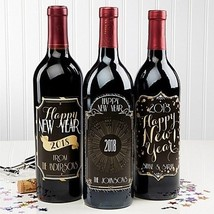 Happy New Year! Wine Bottle Labels (Set Of 3) - $27.67