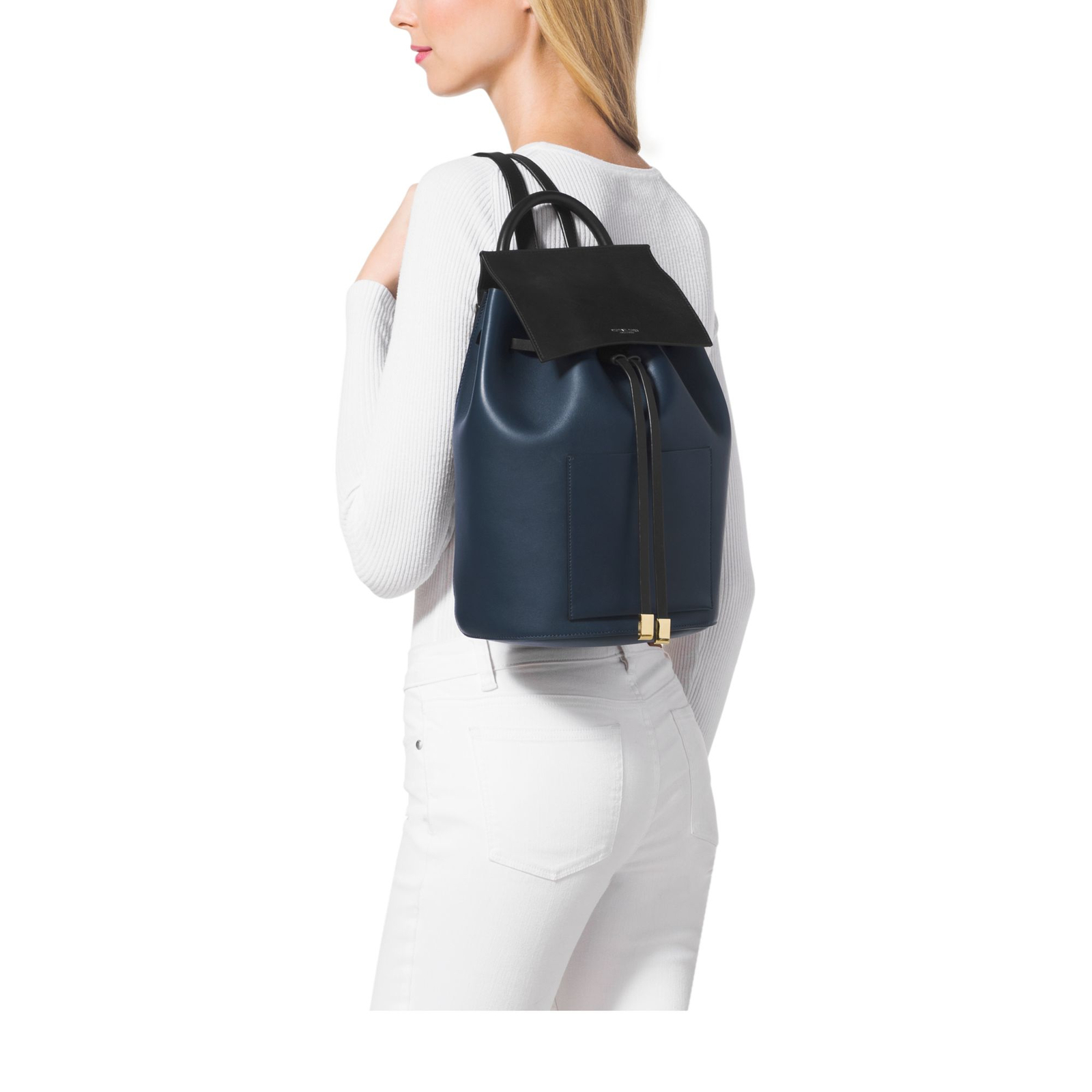 Mk miranda large color block french calf leather backpack