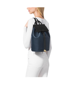 "Michael Kors ""Miranda"" Indigo French Calf Leather Backpack - $9.846,18 MXN"