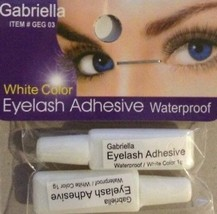 Gabriella Eyelash Adhesive (Waterproof / White Color) (Pack Of 2 Tubes ... - $12.21