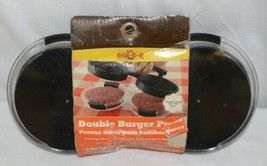 Mr BARBQ 40140X Double Burger Press Ground Meats Poultry Hand Wash image 2