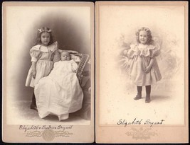 Elizabeth & Beatrice Bryant (2) Photos, Daughters of Luther P. & Beatric... - $34.50