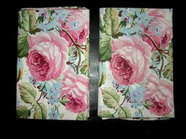 Ralph Lauren Water Floral Standard Pillowcase Set Pink Roses Shabby Chic... - $98.99