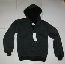 i5 Apparel Gray Sherpa Zip Front Hoodie Size Small BNWT - $39.99