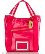 "Juicy Couture Large Pink ""Heart Medallion"" Tote Handbag YHRUS066 NEW MSR... - $119.99"