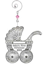 Waterford Crystal 2013 Baby's First ornament with enhancer New In Box #160059 - $47.52