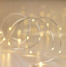 Philips 30ct Christmas Battery Oper. LED String Fairy Dewdrop Lights Warm White image 2