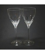 2 (Two) KATE SPADE HARRISON CUT Crystal Wine Glasses Lenox DISCONTINUED ... - $28.49