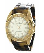 Anne Klein Tortiose Band Swarovski Crystal Gold Tone Watch 10/9178 New B... - $26.72