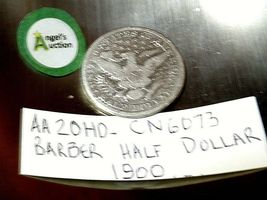 Barber Half Dollar 1900 AA20HD-CN6073 image 4