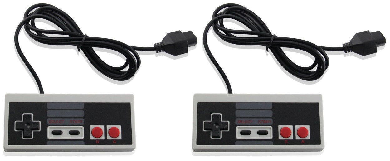 2 X Wired Controller For NES-004 Original Nintendo NES Vintage Console Gamepad