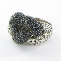 John Hardy Classic Chain Lava Large Braided Black Sapphire Ring Sz 7 New... - $766.29