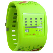 Nooka Lime Green Zub Zot Mad L Toy's Sqwert Slimeball 38mm Digital LCD Watch NIB image 1