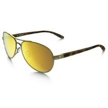 Oakley Tie Breaker POLARIZED Sunglasses OO4108-13 Polished Gold W/ 24K Iridium  - $79.19