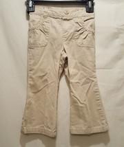 Kaki Pants Size 24 Months 2T Girls Pull On Faded Glory - $9.99