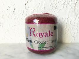 J & P Coats Royale Classic Crochet Thread Size 10 Cotton - Color Burgund... - $6.60