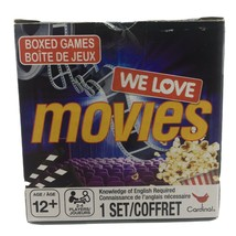 We Love Movies Trivia Game Family Fun Night Cardinal Spinmaster New - $9.99