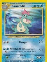 M) Pokemon Crocrodile French Nintendo GAMEFREAK Collector Trading Card 3... - $1.97