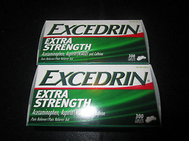 Excedrin Extra Strength Caplets 2-300 Count Boxes - $39.08