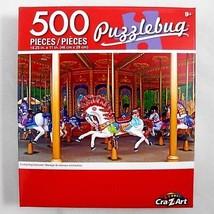 Cra-Z-Art Puzzlebug Puzzle Enchanting Carousel Horses Carnival 18.25x11 ... - $3.59