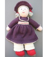 """DOLL Floppy Hat Gray Curly Hair 15"""" tall Soft Squeezable Body Lovey - $42.75"""