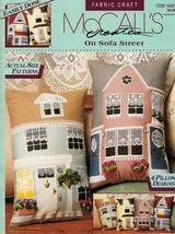 House Sofa Bed Duplex Tudor Colonial Townhouse Pillow Sew Pattern - $9.99