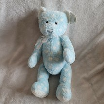 "Baby GUND Plush teddy bear~Dotzie~blue white polka dots~#5841~RARE~14"" NEW - $39.59"
