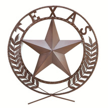 TEXAS Lone Star Metal Large Wall Hang Plaque Cowboy Decor 38595 - $34.02