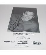 Brandon Buddy Autograph Reprint Photo 9x6 One Life to Live 2007 Soap Opera - $4.99