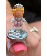 Polly Pocket Snow Princess Ring COMPLETE 1992 Vintage Bluebird Jewel Col... - $39.59
