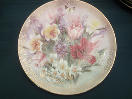 TULIP ENSEMBLE - LENA LIU collector plate FLOWER Symphony of Shimmering ... - $24.19
