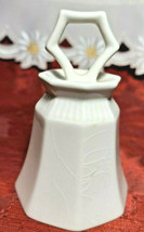 Vintage White Ceramic Independence Japan Bell image 1