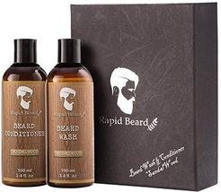 Beard Shampoo and Beard Conditioner Wash & Growth kit for Men Care - Sandalwood  image 2