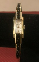 Vintage Kelbert Ladies Gold Plated Enamel Watch - $70.02