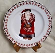 Sakura Stoneware Oneida Santa Retweet Debbie Mumm Christmas Dessert Sala... - $8.88