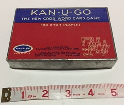 Vintage 1937 KAN-U-GO Crossword Card Game w/Original Box PARKER BROTHERS... - $11.65