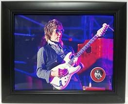 Jeff Beck custom framed guitar pick display J1 - $75.95